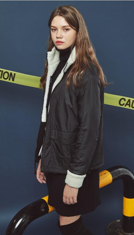 GENERAL IDEA - Reversable Fleece Jacket and Reversable Fur Vest Set