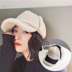 fur hat with earmuffs