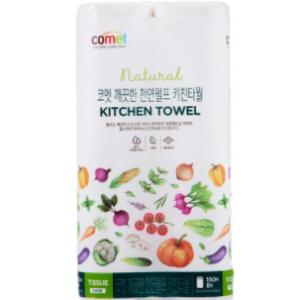 [Comet] Clean Natural Pulp Kitchen Towels(150 pieces, 8Roll)