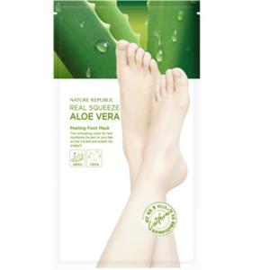 NATURE REPUBLIC – Real Squeeze Aloe Vera peeling foot mask 1 pair