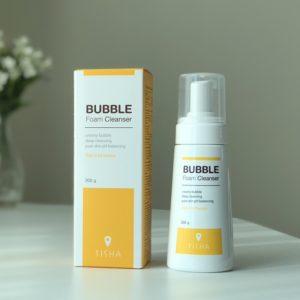 T-sha bubble foam cleanser that manages sensitive skin