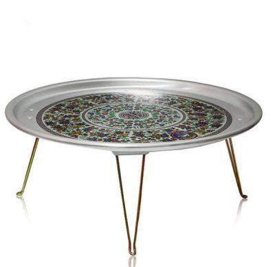 [Yangyeun] Folding Circular Table with Korean Retro Pattern