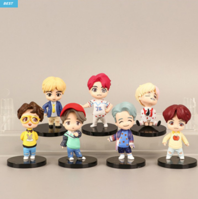 BTS MINI FIGURE OFFICIAL 3INCH HEIGHT MINI DOLL GOODS